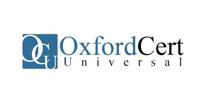 تصویر همکاری راهبردی با موسسه صدور گواهی نامه Oxford Cert Universal انگلستان