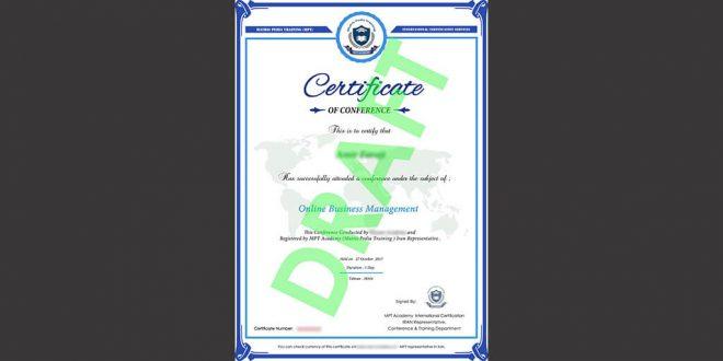 تصویر صدور گواهینامه از آکادمی MPT اتریش توسط شرکت نگرش اندیشمندان پیشرو